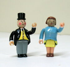 SIR TOPHAM HATT & LADY HATT, ARTICULATED, EUC Thomas Wooden Railway