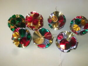 vintage foil christmas baubles decorations