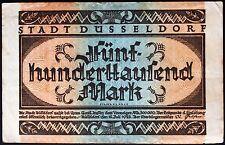 DÜSSELDORF 1923 500,000 Mark Inflation Notgeld German Banknote