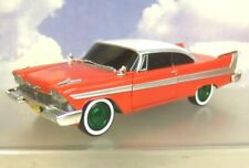 "GREENLIGHT 1/24 DIECAST 1958 PLYMOUTH FURY ""CHRISTINE"" RARE CHASE GREEN WHEELS!"