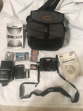 Nikon Coolpix E5000 Black Digital Camera Kit With Accessories & Bag