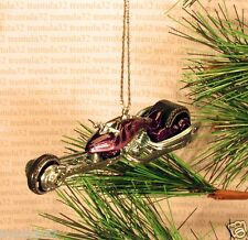 Drag Bike Chopper Motorcycle CHRISTMAS ORNAMENT Purple/FLAMES rare XMAS