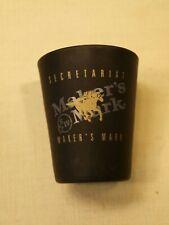 Vintage Makers Mark Liquor Ad Secretariat Horse Racing Black Barware Shot Glass