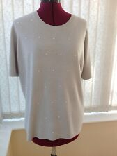 M&S beaded front short-sleeved jumper size 20
