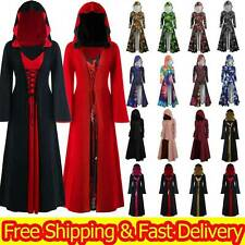 Womens Gothic Punk Medieval Halloween Cosplay Costume Fancy Dress Hooded Jumpers