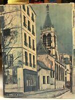 Maurice Utrillo Vintage 1913 Church Of Saint Severin Canvas Stretcher Print