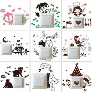 Cartoons Bedroom Decoration Switch Sticker Wall Stickers Removable Wall Sticker