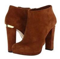 Women's Shoes Michael Kors HAVEN BOOTIE Platform Boots Heels Booties Cognac