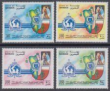 Bahrain 1996 ** Mi.606/09 Polizei Police Interpol Wappen Crest