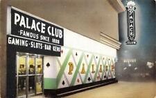 PALACE CLUB Reno, Nevada Casino c1950s Chrome Vintage Postcard