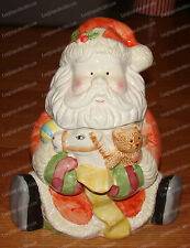 Santa w/Toys Cookie Jar (Ames Dept. Store by CIB) Ceramic, Hand Painted
