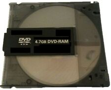 3x Blank DVD-RAM (4.7GB 120min 3x) Disc With Black Removable Cartridge
