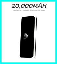 Black 20000mAh External Portable Battery Power Bank USB Universal Smart Charger