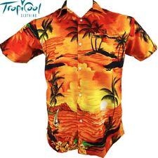 Sunset Orange Mens Hawaiian Shirts