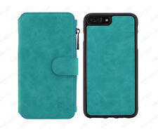 "cover A LIBRO custodia PORTAFOGLIO VINTAGE per APPLE IPHONE 7 PLUS 5.5"" verde"