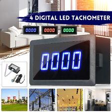 4 Digital LED Tachometer RPM Car Speed Meter + Hall Proximity Switch Sensor NPN