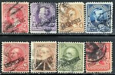 """US.(in Philippines)>1899-1904>Used,pf.12>US.Postage Overprint """"PHILIPPINES""""."""