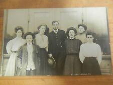RPPC Real Photo Postcard School Faculty Arthur IL