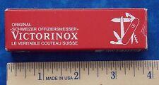 """Vintage Original Victorinox """"Schweizer Offiziersmesser"""" 3.3611 Knife Box Stidham"""