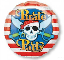 PIRATE PARTY Standard Round Foil Balloon Birthday Decoration Childrens