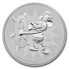 Niue 2 dollars argent 1 once Mickey Steamboat Willie 2017 1 oz silver coin