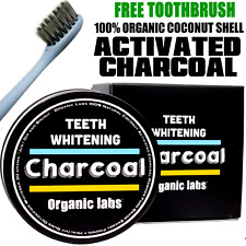 100% ORGANIC COCONUT ACTIVATED CHARCOAL TEETH WHITENING POWDER