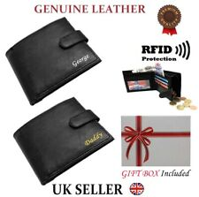 Personalised Mens Wallet Genuine Leather Soft High Quality Card Large Coin Purse