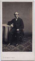 Uomo Nel L Officina Foto S.Bureau Parigi Francia Vintage Albumina Ca 1860