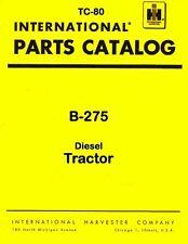 Farmall International B-275 B275 Tractor Parts Catalog Manual