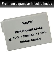 WT-LPE8 WT Nixxell Battery For Canon EOS Rebel T2i, EOS Rebel T3i DECODED