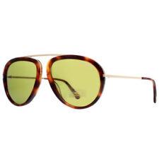 Lunettes de soleil marron vert plastiques pour femme