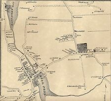 Manhasset and Mineola NY 1873 Map with Homeowners Names Shown