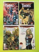 Battleworld: Thors #1-4 Secret Wars Marvel NM 9.4