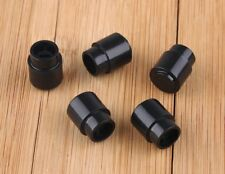 5 Black Plastic Tele selector Switch Tip Guitar Knob Cap Telecaster round