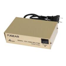 VGA Splitter 4 Ports Video Distribution SVGA 1 PC to 4 Monitor Signal Copy