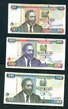 KENYA - 2010 Full Set of UNC Banknotes