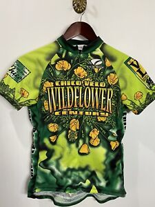 Voler Women's Cycling Shirt Made In USA 90% Zip Size S ( Pit.17 L21in)
