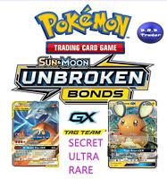 Pokemon Unbroken Bonds ULTRA SECRET RARE TAG TEAM GX - MULTI BUY DISCOUNT