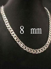Men Charm Cool 925 Sliver Unique Necklace Chain Fashion Popular Jewelry 8MM