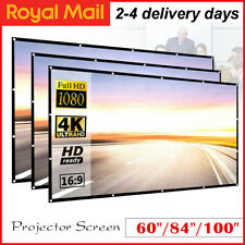 More details for 60~150 inch 16:9 hd portable foldable soft projector screen home cinema uk