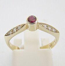 Ring Gold 585er Rubin Brillanten Edelsteine Goldringe 14 kt. Diamant Goldschmuck
