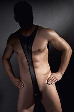 Sexy body uomo in lycra colore nero Derrick Anais tg M