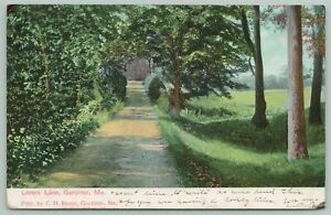 Gardiner Maine~Lovers Lane~1905 Postcard