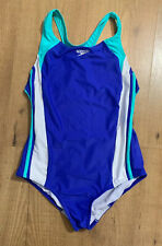 Speedo Infinity Splice One Piece Bathing Suit RacerBack Girls 16 Mint Periwinkle