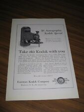 1924 Print Ad Kodak 1A Autographic Special Rochester,NY