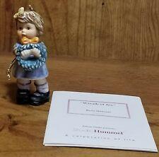 "Berta Hummel ""Wreath Of Joy"" Figurine Ornament~Ashton-Drake~ Studio Hummel"