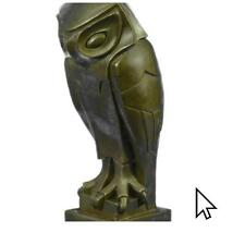 Bronze Sculpture Art Deco Owl , Pure Vienna , On A Statue Figurine