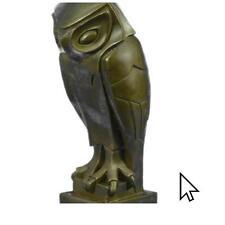 Bronze Sculpture Art Deco Owl , Pure Vienna , On A Statue Figurine