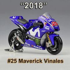 Motorcycle Models 1/18 Scale 2018 YAMAHA MotoGP Racing Team #25 Maverick Vinales