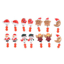1Pair Cute Christmas Kids Clip-On Earrings Xmas Jewelry For Girls Party GiftRDUJ